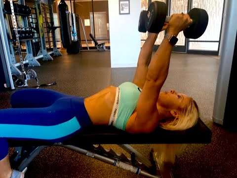 Lying Tricep Extensions with Dumbbells
