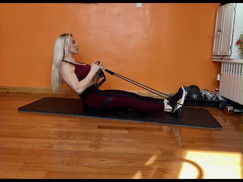 Seated Back Extensions with Bands