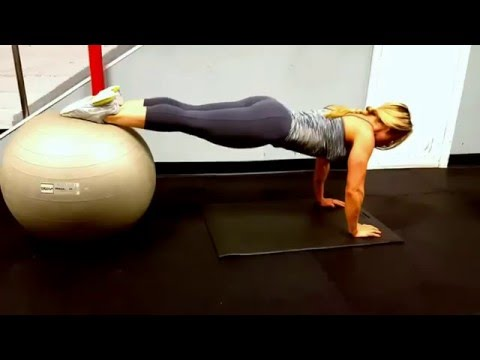 Stability Ball Knee Tucks: Strong Core and Upper Body