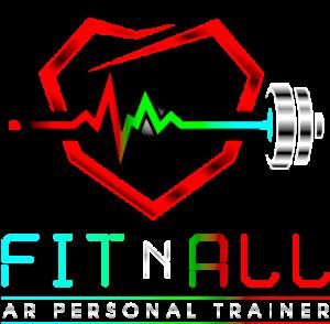 FitnAll logo on transparent background