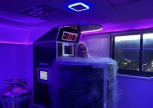 Adriana Albritton during the Cryotherapy