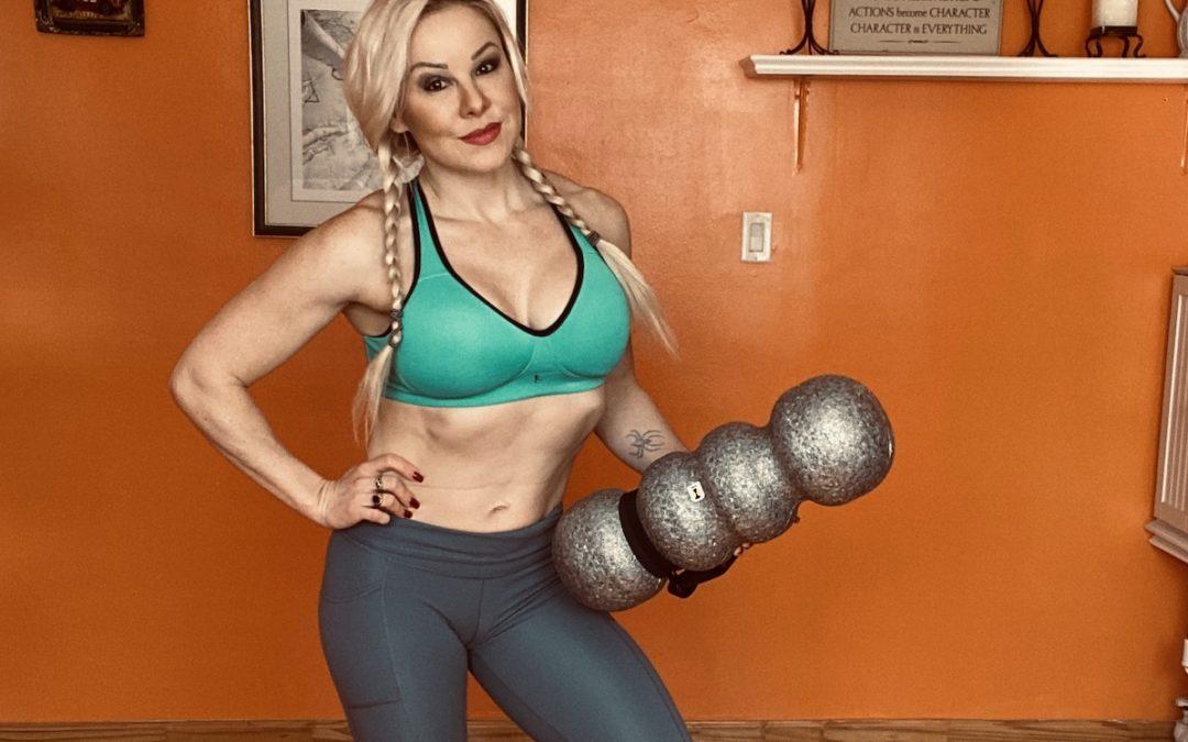 Adriana Albritton holds rollga foam roller