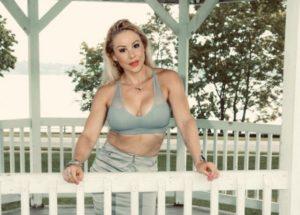 Adriana Albritton at the garden house