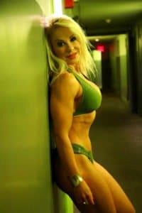 Adriana Albritton in the hallway