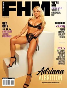 Adriana Albritton on the magazine cover